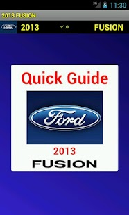 Quick Guide 2013 Ford Fusion - screenshot thumbnail