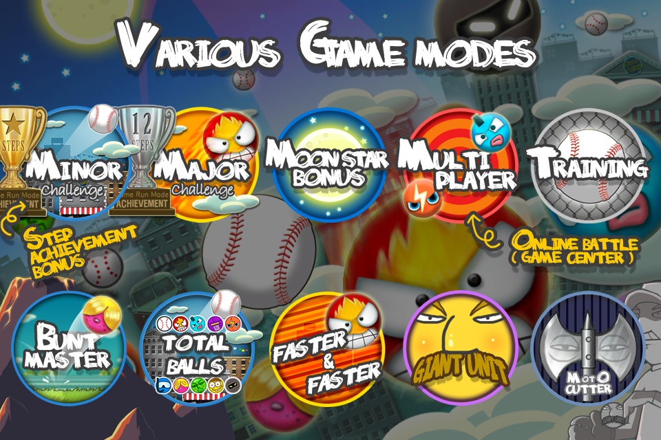 Flick Home Run! baseball game - screenshot
