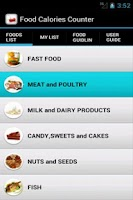 Screenshot of Food Calories Counter