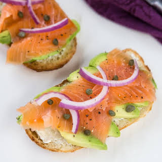 Salmon and Avocado Toast.