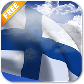 3D Finland Flag Live Wallpaper