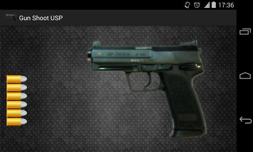 Gun shot pistol simulator