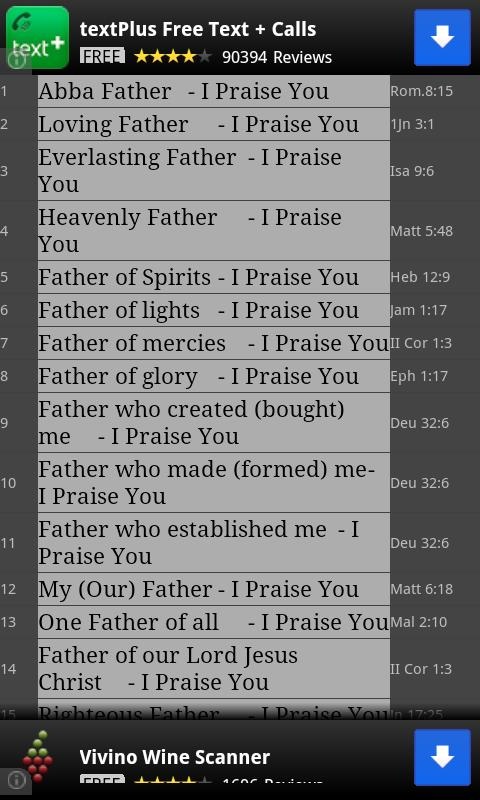 1000 Praise Offerings - screenshot