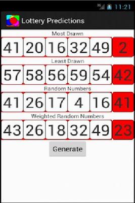 Lottery Predictor - screenshot