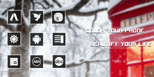 Winter Phone Booth Icon Pack