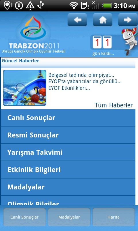 EYOF 2011 Trabzon- screenshot