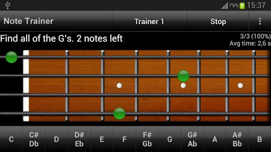 Bass Guitar Note Trainer Demo - screenshot thumbnail
