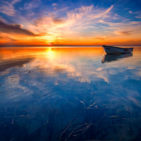 BOAT by Fadly Shaputra - Landscapes Sunsets & Sunrises ( ocean, beach, sunrise, boat )