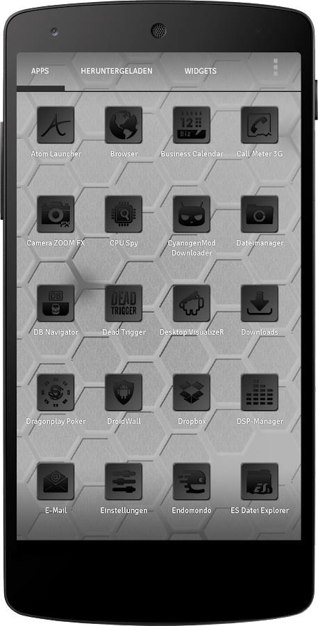 Apex/Nova Semiotik Black Icons- screenshot