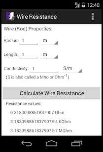 Wire resistance calculator android apps on google play wire resistance calculator screenshot thumbnail wire resistance calculator screenshot thumbnail keyboard keysfo Images