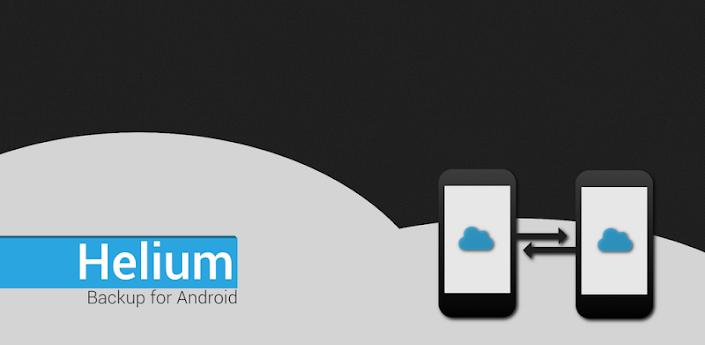 Helium - App Sync et sauvegarde