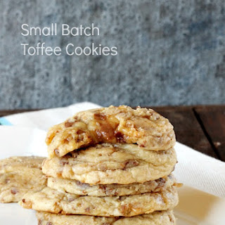 Small Batch Soft Toffee Cookie.