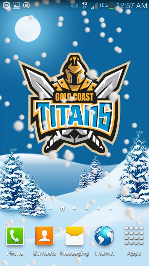 Gold Coast Titans Snow Globe- screenshot