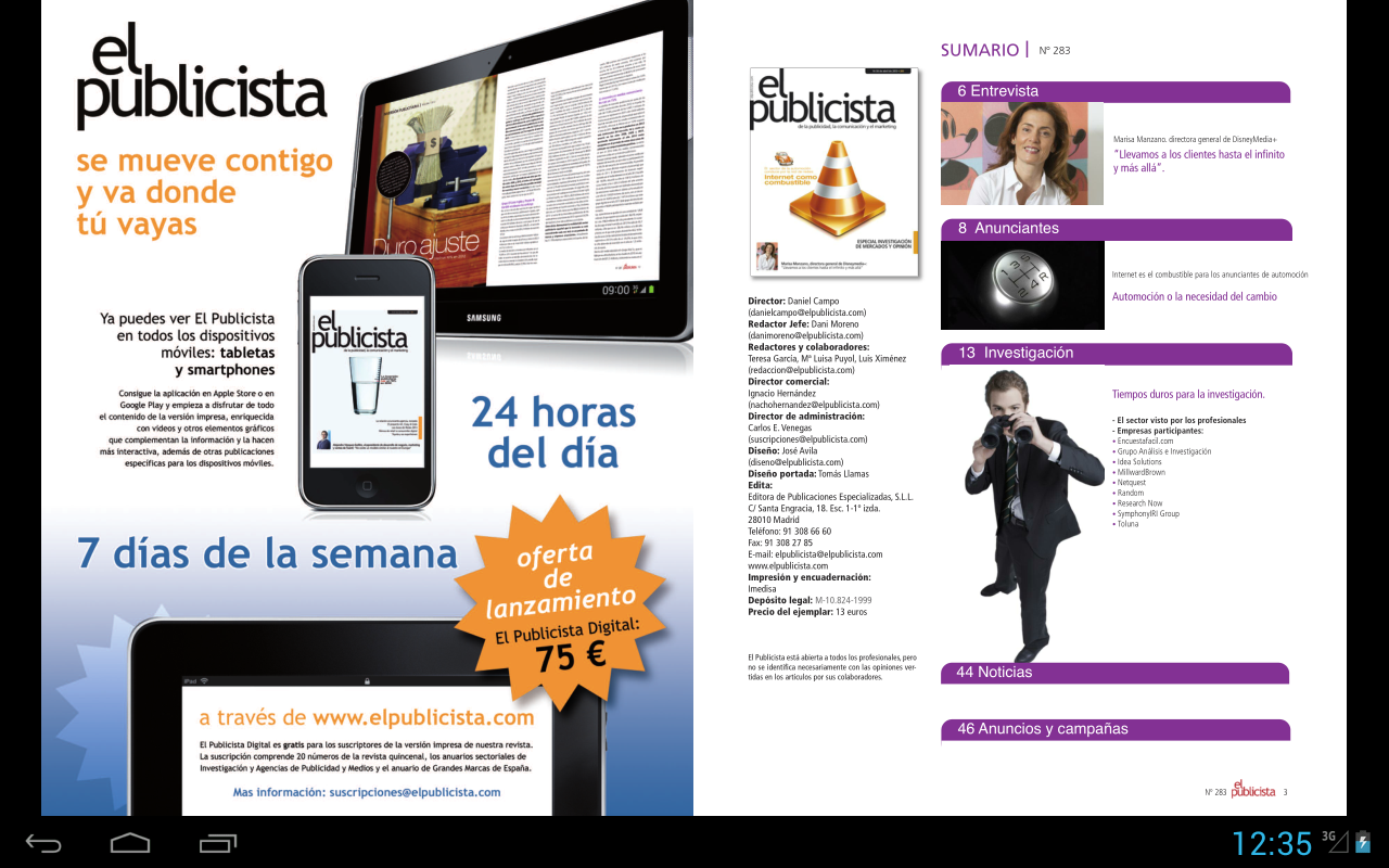 Revista El Publicista- screenshot