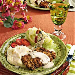 Iceberg Lettuce Wedges with Blue Cheese Dressing.