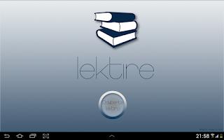 Screenshot of Lektire