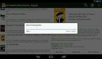 Screenshot of PageTurner eBook Reader