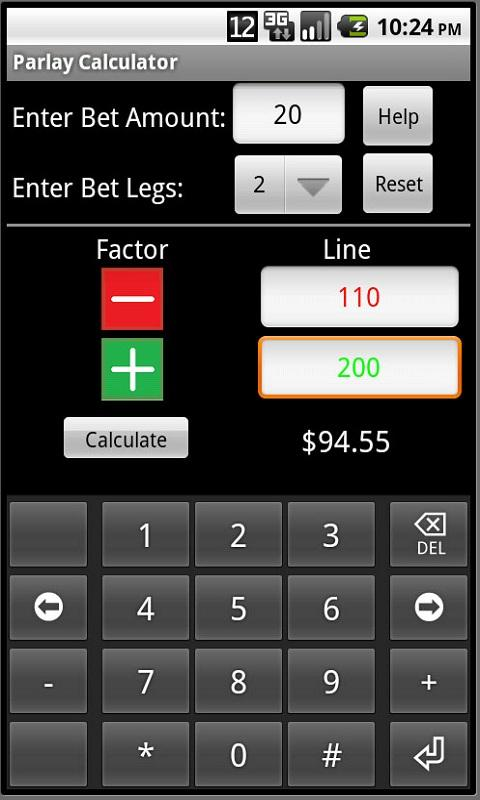 Parlay Calculator - screenshot