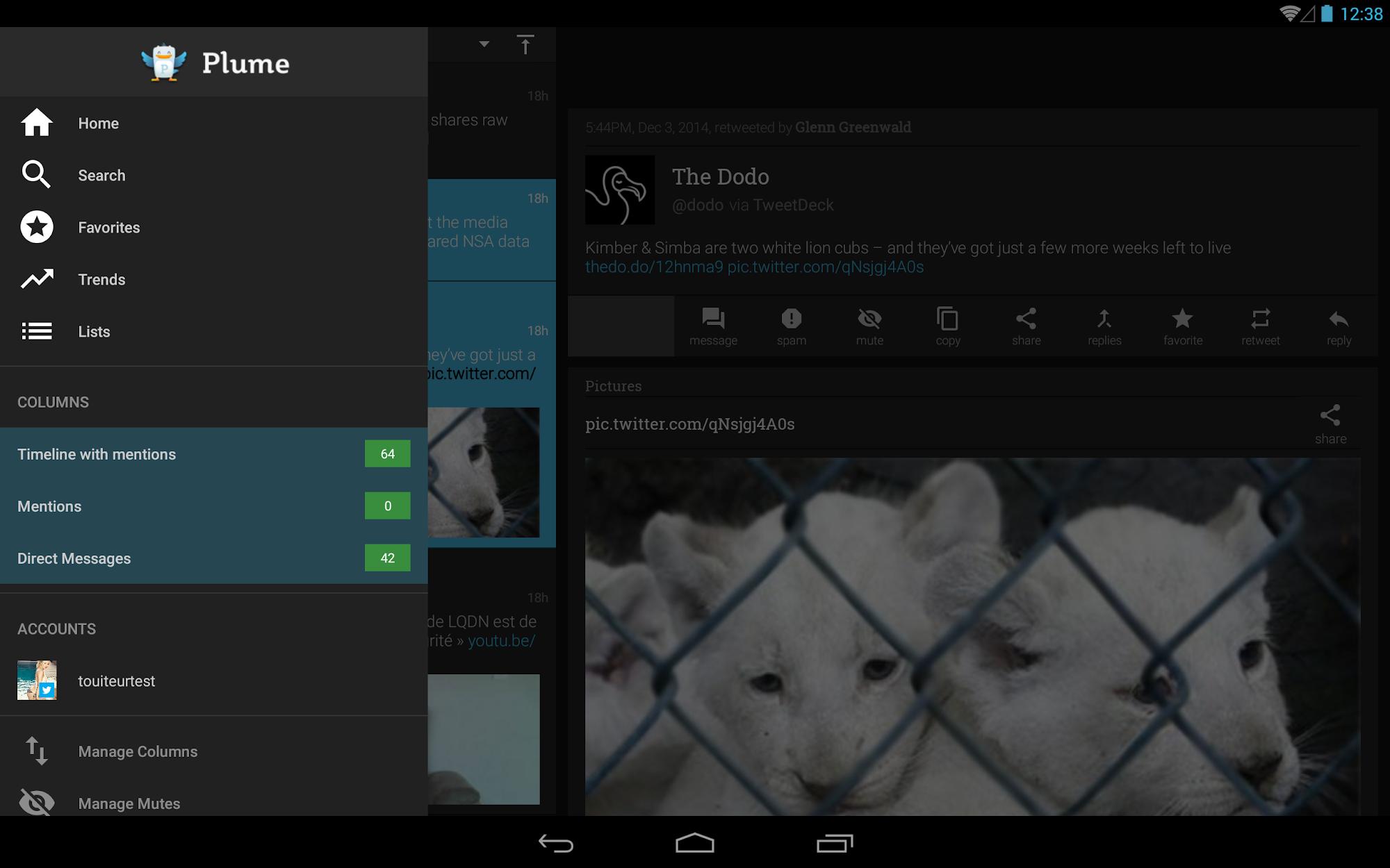 Plume for Twitter screenshot #8