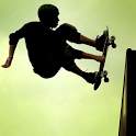 Skateboard boy icon