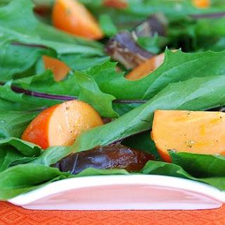 Dandelion, Persimmon, and Medjool Date Salad Recipe