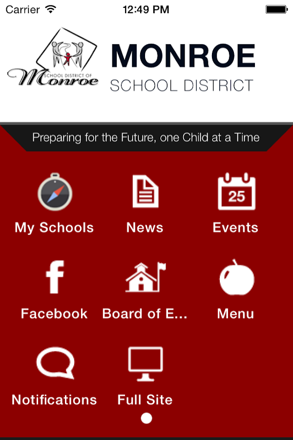 Monroe School District- screenshot