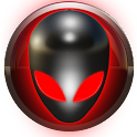 poweramp skin alien red icon
