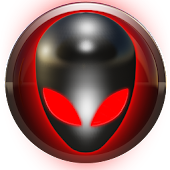 poweramp skin alien red