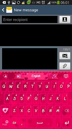 GO Keyboard Pink Hearts Theme 1.0.4 screenshot 636197
