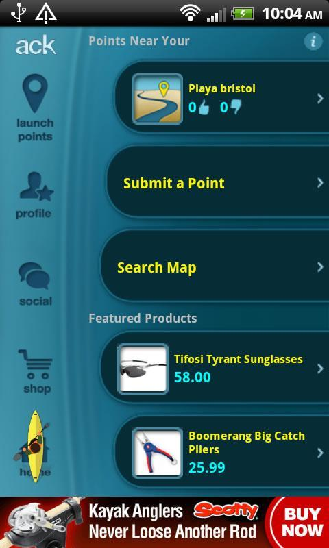 ACK Kayak Launch Points PRO - screenshot