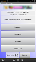 Screenshot of Capital Cities Quiz: Countries
