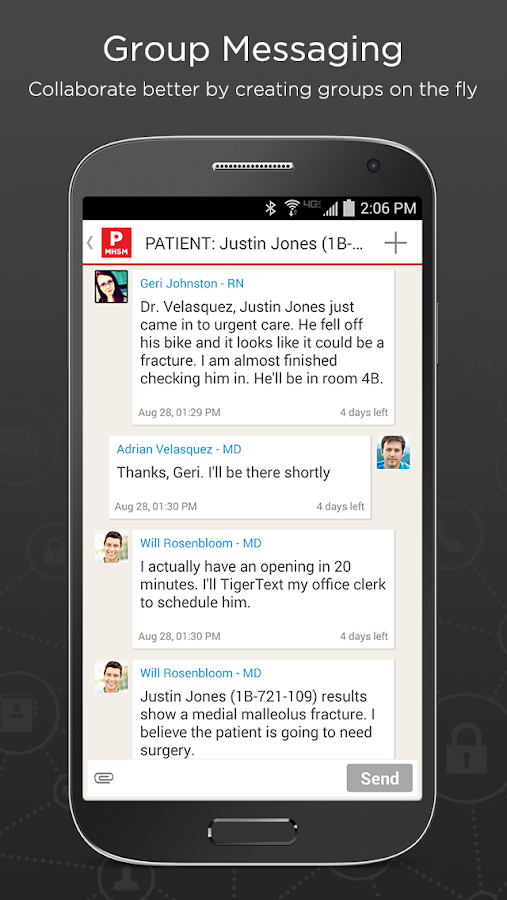 TigerText Secure Messenger App - screenshot