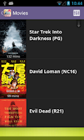 Screenshot of Showtimezz: SG Movie Timings
