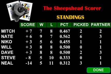 Sheepshead Scorer - náhled
