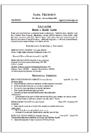 Interests On Job Resume Civilian Resume With Military Experience