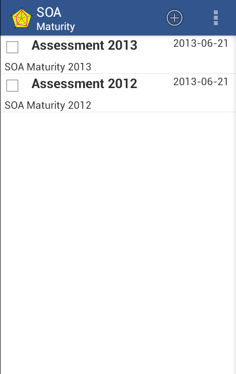 SOA Maturity - screenshot