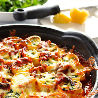 Baked Spinach and Ricotta Rotolo.