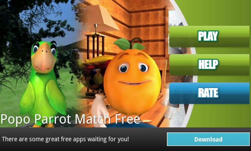 Popo Parrot Match Free - screenshot