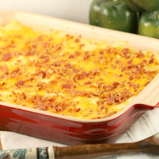 Healthy, Low Calorie Loaded Mashed Potato Casserole