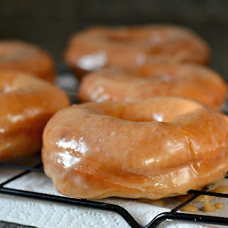 Old Fashioned Raised Maple Doughnuts