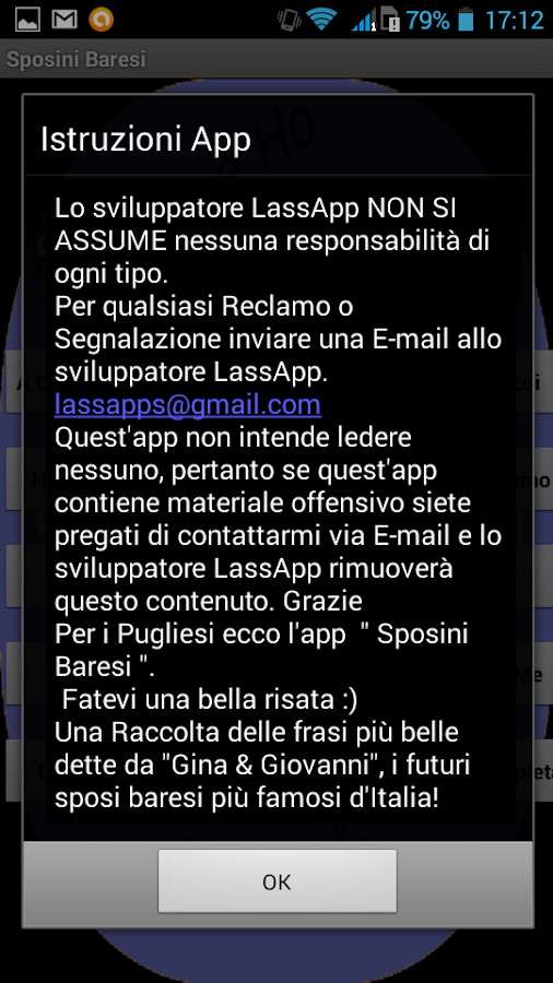 Sposini Baresi- screenshot
