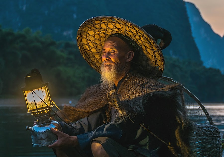 Li River Fisherman  by Shalabh Sharma - People Professional People ( yangshuo, li river, fisherman, guilin, guangxi, china )