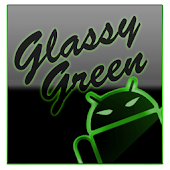 GOKeyboard Theme Glassy Green