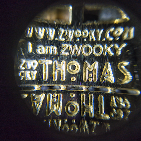 I am ZWOOKY by ZWOOKY GmbH - Artistic Objects Jewelry ( double-tag, pendant, zwooky, gold, military-tag, 3d-print )