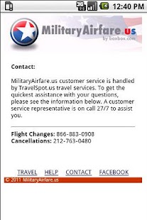 MilitaryAirfare.us- screenshot thumbnail