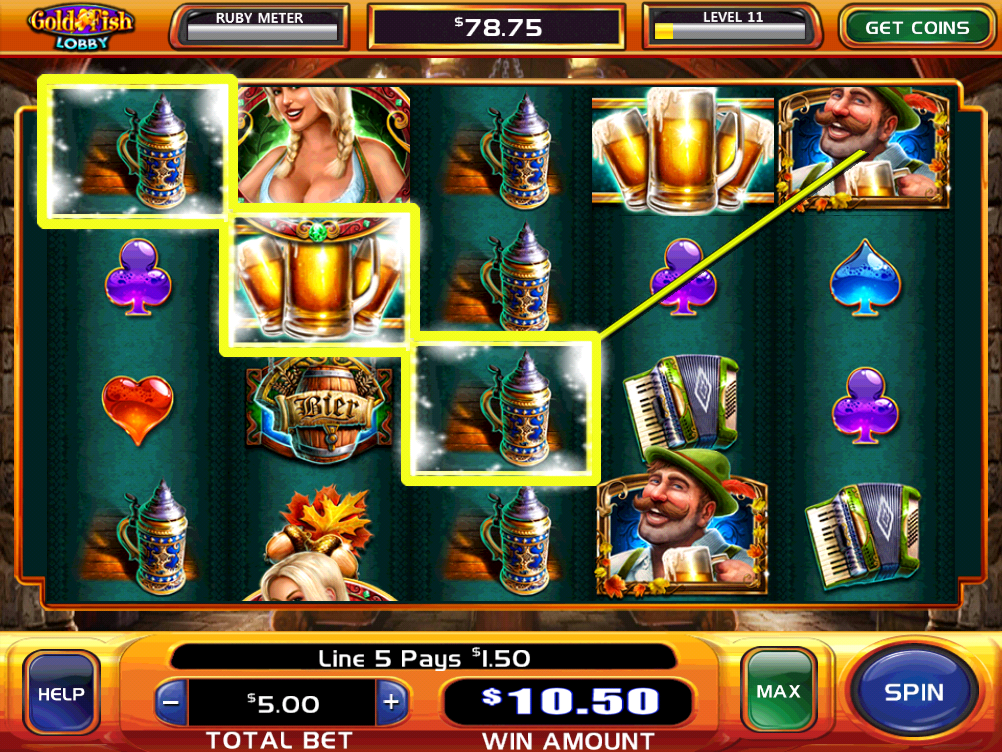 Gold fish casino slots screenshot for Fish casino slot