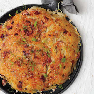 Rösti with Bacon and Scallions.