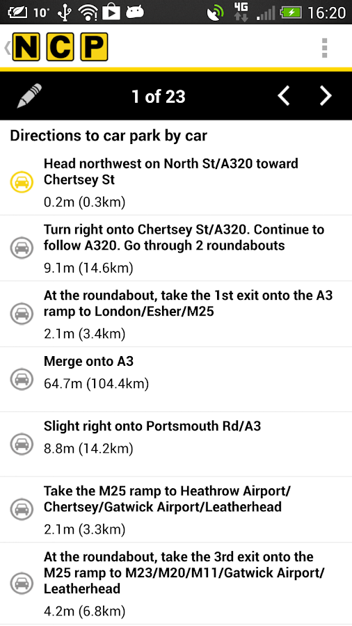 NCP Car Park Finder - screenshot