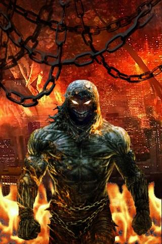 Disturbed fire Live Wallpaper - screenshot