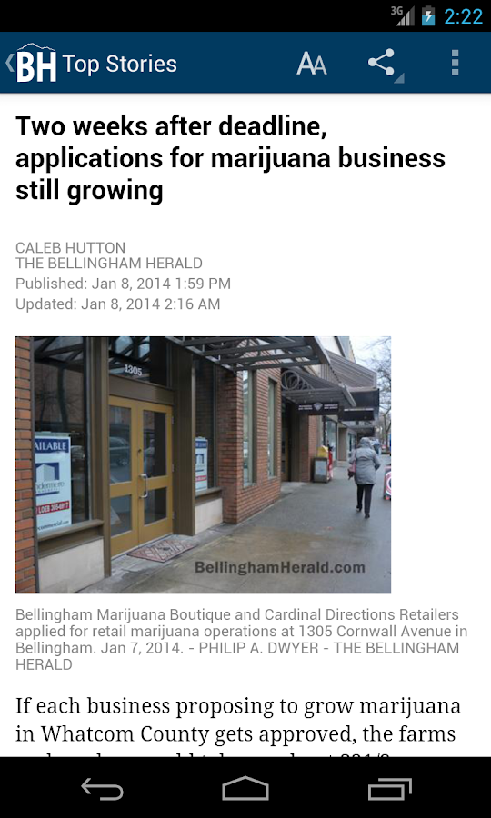 Bellingham Herald WA newspaper - screenshot